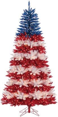 Sterling 7.5-ft. Patriotic Pre-Lit Artificial Christmas Tree
