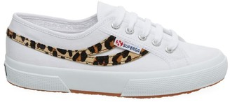 Superga 2953 COTU Leopard-Print Pony Hair Canvas Sneakers