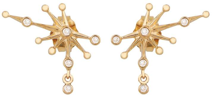 Celine Daoust Diamond Trio Constellation Stud Earrings