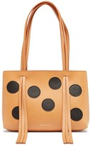 Mansur Gavriel Mini Fringe Dotted Leather Bag - Womens - Black Tan