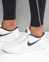 Nike Running Performance Free Run Trainers In White 831508-100