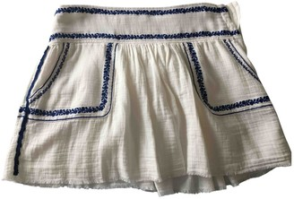 Etoile Isabel Marant White Cotton Skirt for Women