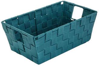 Simplify Small Woven Storage Shelf Bin in Sapphire