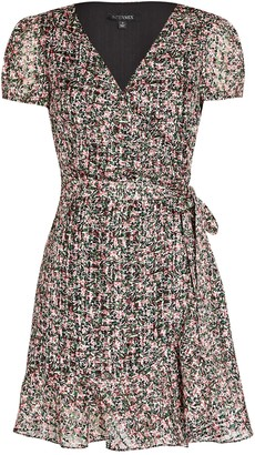 Intermix Elle Floral Silk-Cotton Wrap Dress