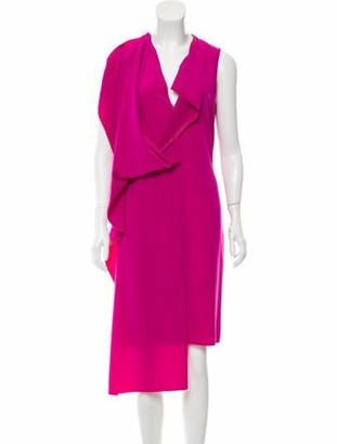 Maison Margiela Sleeveless Midi Dress Magenta
