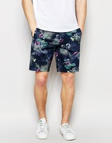 Asos Shorts With All Over Printing With Elasticated Waist