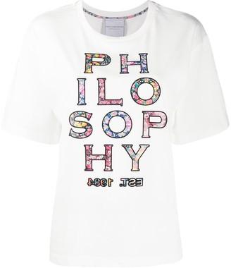 Philosophy di Lorenzo Serafini floral logo print T-shirt