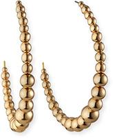Kenneth Jay Lane Graduating Bead Hoop Earrings, Gold