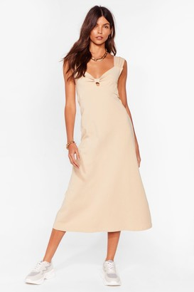 Nasty Gal Womens Bowing Places Relaxed Midi Dress - Caramel