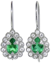 Cathy Waterman Emerald and Diamond Earrings - Platinum