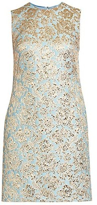 Dolce & Gabbana Jacquard A-Line Sleeveless Shift Dress