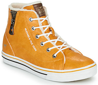 Mustang girls's Shoes (High-top Trainers) in Yellow