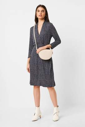 French Connection Womens Jersey V-Neck Dress - Natural