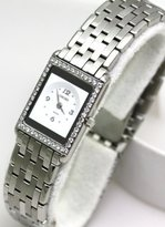 Concord Delirium Stainless-Steel Diamond Bezel Sapphire Crystal 2.8.mm Thick Thinnest Swiss Women's Watch