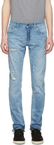 Dolce & Gabbana Blue Distressed Jeans