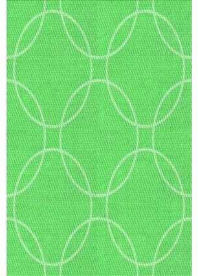 Harmon East Urban Home Geometric Wool Green Area Rug East Urban Home Rug Size: Rectangle 4' x 6'