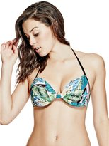 GUESS Tropical Push-Up Bikini Top
