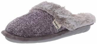 Dearfoams Women's Chenille Knit Clog with Plush Cuff Slipper