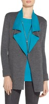 St. John Waterfall Two Tone Reversible Cardigan