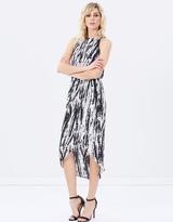 DECJUBA Julia Print Sleeveless Drape Dress