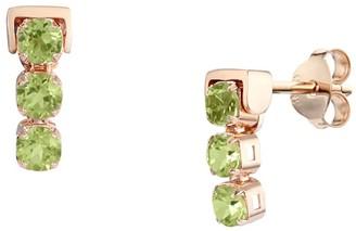 Tsai X Tsai San Shi Peridot Stud Earrings, 18 Ct Rose Gold Vermeil