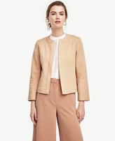 Ann Taylor Collarless Cotton Jacket