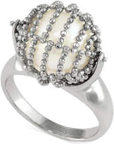 Effy Cultured Freshwater Pearl Mesh Ring in Sterling Silver (11-1/2mm)