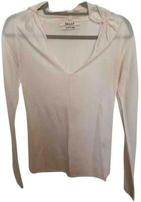 Bally White Cashmere Knitwear