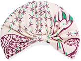 Valentino Printed Silk-twill Turban - Ivory