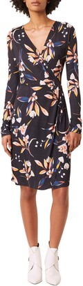 French Connection Raquel Floral Long Sleeve Faux Wrap Dress