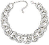 Swarovski Silver-Tone Large Link Pave Collar Necklace