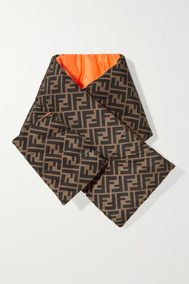 Fendi Reversible Printed Quilted Shell Scarf - Brown
