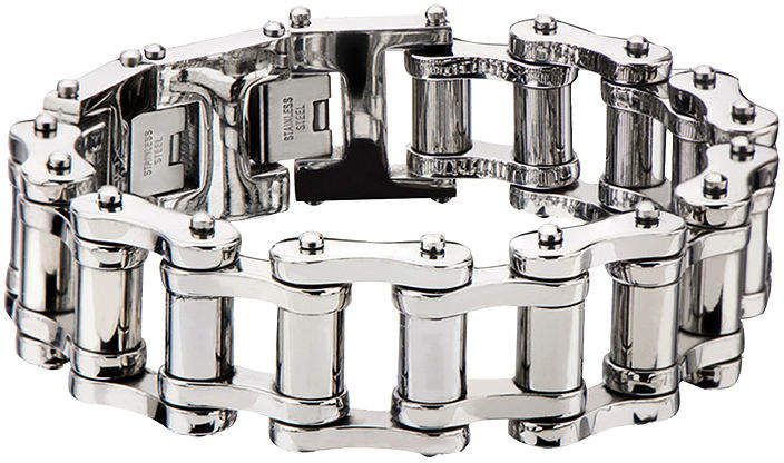 JCPenney FINE JEWELRY Inox Jewelry Mens Stainless Steel Motor Chain Link Bracelet