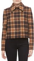 Michael Kors Champlain Plaid Wool Short Coat