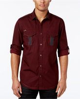INC International Concepts Men's Tumbleweed Poplin Shirt, Only at Macy's
