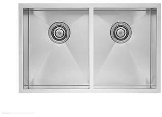 "Blanco Quatrus R0 32"" L x 18"" W Double Basin Undermount Kitchen Sink"
