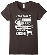 Men's I Just Want To Drink Beer And Hang With My Boxer T Shirt 3XL