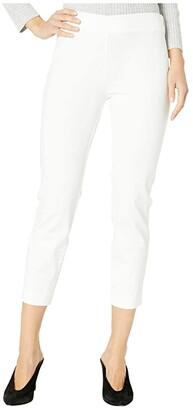 Lauren Ralph Lauren Stretch Twill Skinny Crop Pants (White) Women's Casual Pants