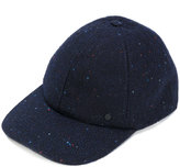 Maison Michel speckled curved peak felt cap