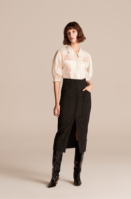 Rebecca Taylor Zebra Fleur Skirt