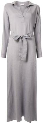 POUR LES FEMMES Maxi Shirt Dress