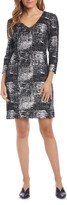 Karen Kane Foil Knit Sheath Dress