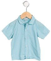 Papo d'Anjo Boys' Gingham Button-Up Shirt