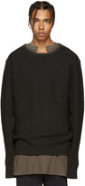 Yeezy Grey Wool Undestroyed Sweater