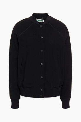 Kenzo Embroidered Stretch-crepe Bomber Jacket