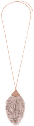 Riah Fashion Women's Necklaces LIGHT - Light Brown & Goldtone Tassel Pendant Necklace