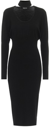 Tom Ford Cashmere-blend midi dress