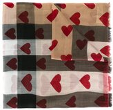 Burberry heart print scarf - women - Silk/Modal/Cashmere - One Size