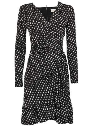 MICHAEL Michael Kors Dotted Print Wrapped Dress