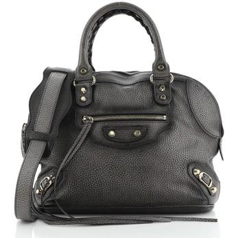 Balenciaga Convertible Bowling Bag Classic Studs Leather Mini